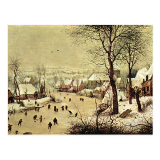 Winter landscape with skaters by Pieter Bruegel Postcard