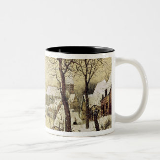 Winter Landscape with Skaters Two-Tone Coffee Mug