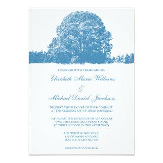 Winter Oak Tree Wedding 13 Cm X 18 Cm Invitation Card