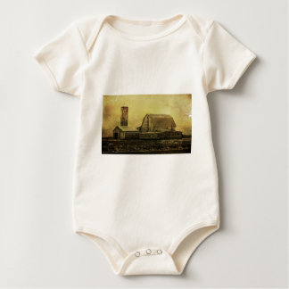 Winter On The Farm Baby Bodysuits