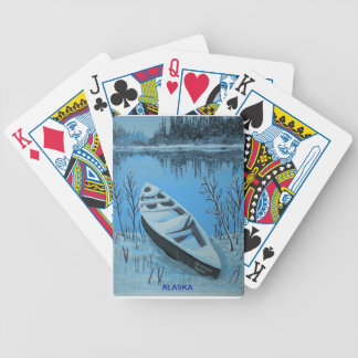 Winter on the River Bicycle Playing Cards