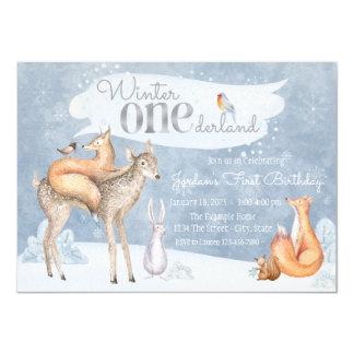 Winter ONEderland First Birthday Party 11 Cm X 16 Cm Invitation Card