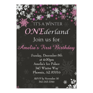Winter ONEderland Invitation, First, 1st Birthday Card