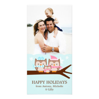 Winter Owls Family Photo Cards