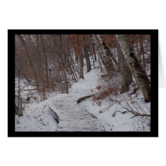 Winter path card