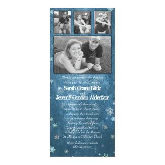 Winter Photo Collage Wedding Invitation
