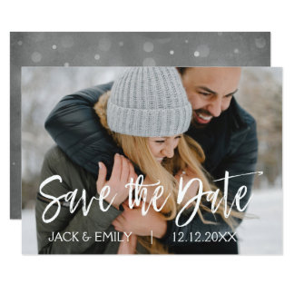 Winter Photo Save the Date Card
