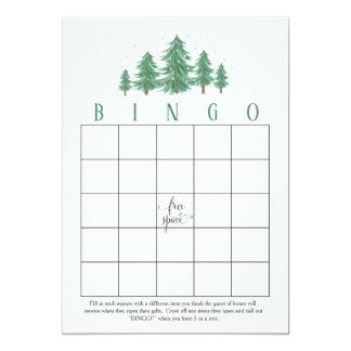 Winter Pines, rustic  Bridal Shower Bingo Cards