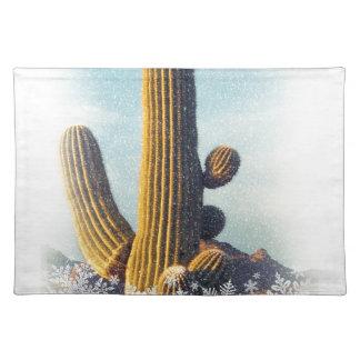 Winter Saguaro Placemat
