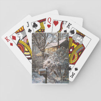Winter scene playing cards