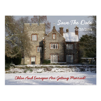 Winter Scene Save The Date Postcard