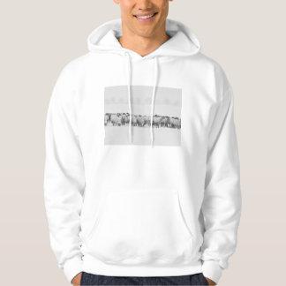 Winter sheep flock hoodie