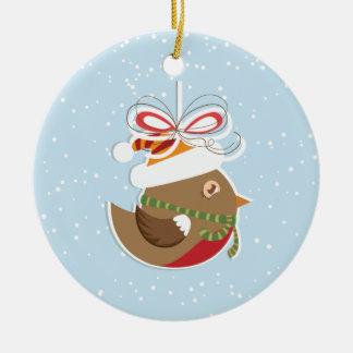 Winter Snow Bird Christmas Tree Ornaments
