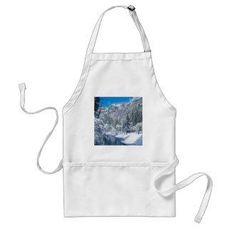 Winter Snow Flocks Yosemite Standard Apron