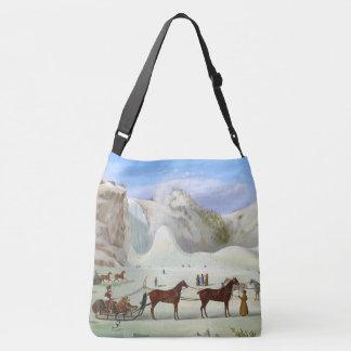 Winter Snow Sleds Sleighs Horses Tote Bag