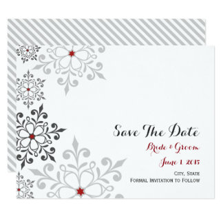 Winter Snowflake Holiday Save The Date Card