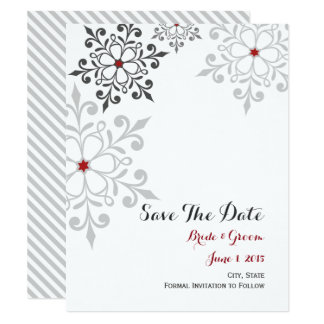 Winter Snowflake Holiday Save The Date Card 11 Cm X 14 Cm Invitation Card