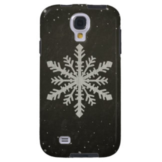 Winter Snowflake White Chalk Drawing Galaxy S4 Case