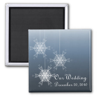 Winter Snowflakes Wedding Magnet