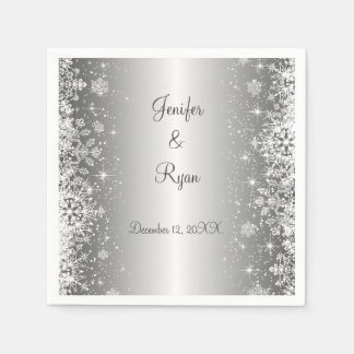 Winter snowflakes wedding  Napkins Disposable Serviette