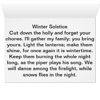 Winter Solstice Poe, Card