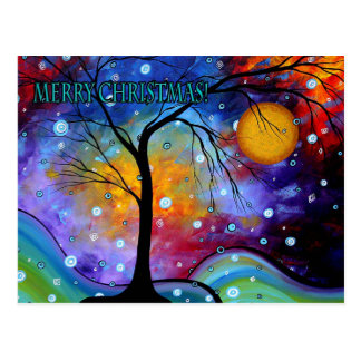 Winter Sparkle Merry Christmas Postcard