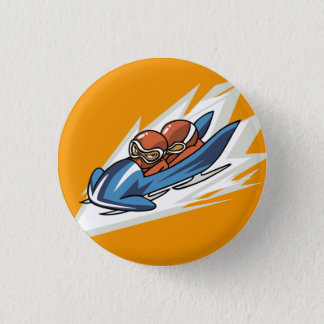 Winter Sports Bobsled Flair Button