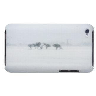 Winter storm landscape iPod touch cases