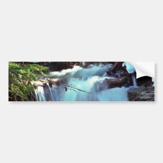 Winter Stream Waterfall Bumper Sticker