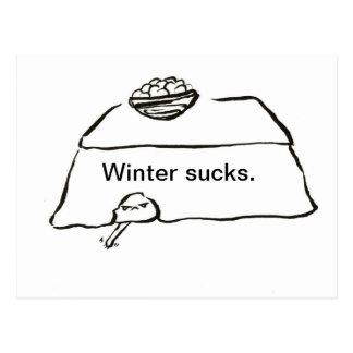 Winter sucks postcard