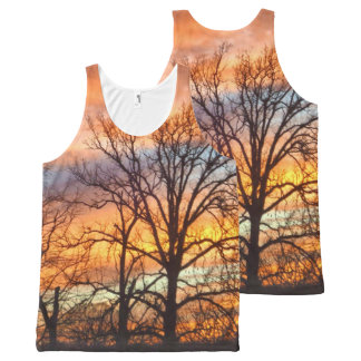Winter Sunset 1 All-Over Print Tank Top