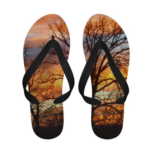 Winter Sunset 1 Sandals