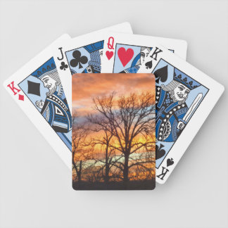 Winter Sunset 1 Playing Cards