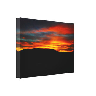 Winter Sunset over Sedona Gallery Wrapped Canvas