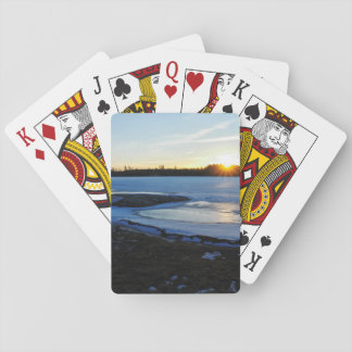 Winter Sunset Playing Cards