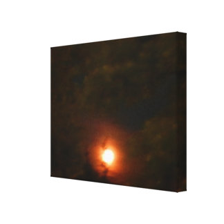 WINTER SUPER MOON canvas Gallery Wrapped Canvas