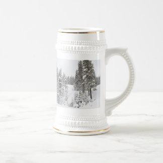 Winter Themed German Beer Mug
