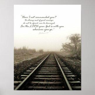 Winter Tracks Scene and Scripture 11x14 Poster