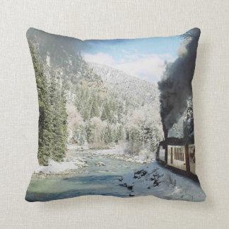 Winter Train Throw Pillow