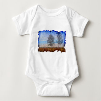 Winter Trees & Farm Fences Pasture Art T Shirts