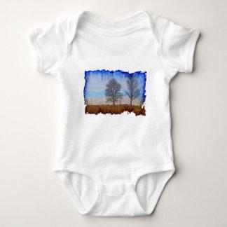 Winter Trees & Farm Fences Pasture Art Tee Shirt