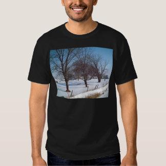 Winter Trees on a Farm in Iowa T-shirts