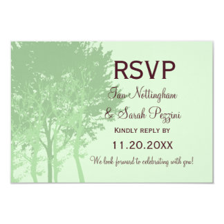 Winter Trees RSVP Wedding Card