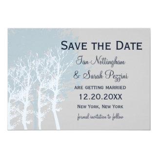 Winter Trees Save the Date Wedding 13 Cm X 18 Cm Invitation Card