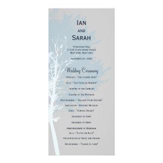 Winter Trees Wedding Program Custom Rack Cards