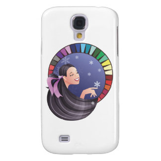 Winter type girl with palette galaxy s4 case