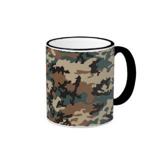 Winter Verdant Camo Glass Mug