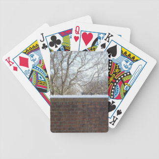 Winter Wall Bicycle Playing Cards
