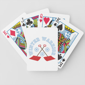 Winter Warrior Bicycle Playing Cards