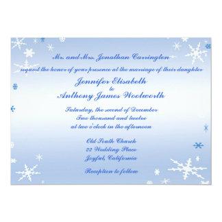 Winter Wedding 14 Cm X 19 Cm Invitation Card